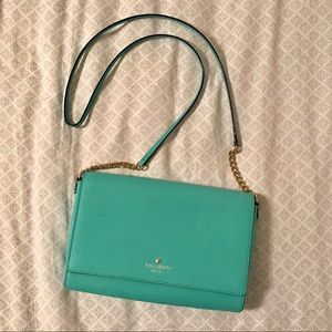EUC Kate Spade Turquoise Crossbody Bag